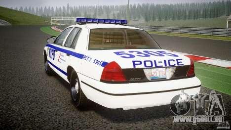 Ford Crown Victoria NYPD [ELS] für GTA 4 hinten links Ansicht