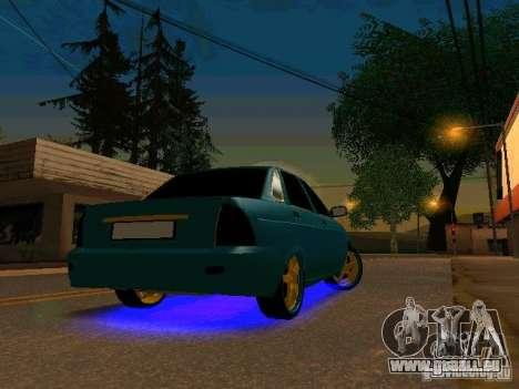LADA 2170 Priora Gold Edition pour GTA San Andreas laissé vue