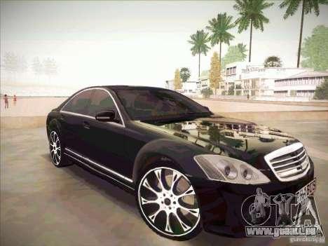Mercedes-Benz S 500 Brabus Tuning für GTA San Andreas rechten Ansicht