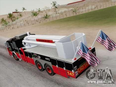 Seagrave Marauder II. SFFD Ladder 147 für GTA San Andreas Innen