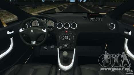 Peugeot 308 GTi 2011 Taxi v1.1 pour GTA 4 Vue arrière