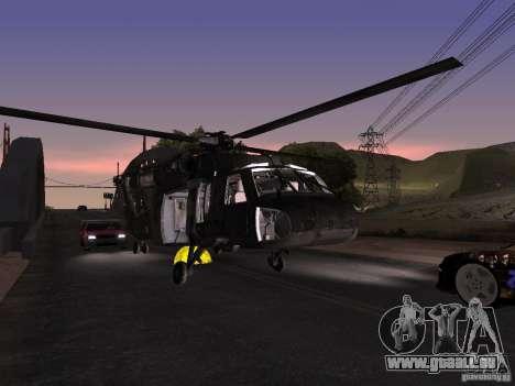 L'hélicoptère du CoD 4 MW pour GTA San Andreas vue de côté