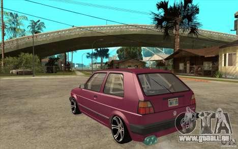 VW Golf 2 GTI pour GTA San Andreas sur la vue arrière gauche