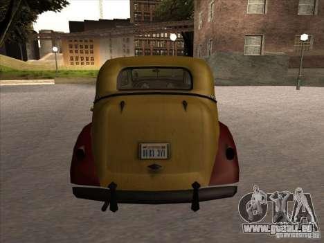 Shubert TAXI de MAFIA 2 pour GTA San Andreas vue de droite