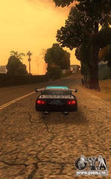 Élégie Nongrata by_k1x pour GTA San Andreas sur la vue arrière gauche