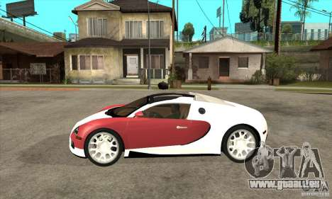 Bugatti Veyron Grand Sport für GTA San Andreas linke Ansicht