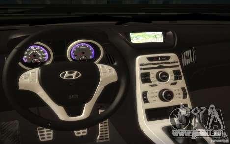 Hyundai Genesis 3.8 Coupe für GTA San Andreas Innenansicht
