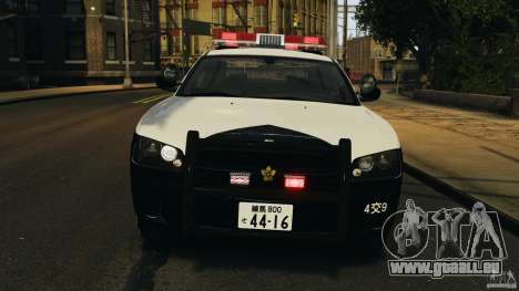 Dodge Charger Japanese Police [ELS] für GTA 4 Seitenansicht