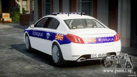 Peugeot 508 Macedonian Police [ELS] für GTA 4 Seitenansicht