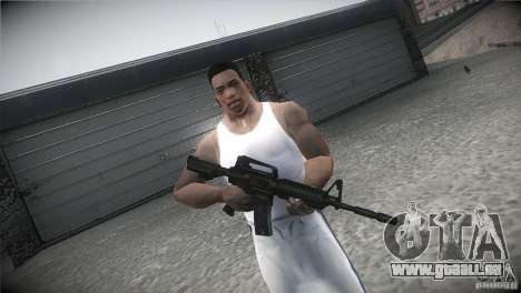 M4A1 pour GTA San Andreas quatrième écran