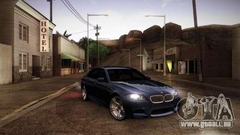 BMW M5 F10 pour GTA San Andreas vue de côté