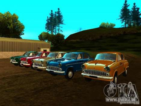 Moskvich 403 Taxi pour GTA San Andreas vue arrière