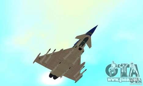 Eurofighter 2010 pour GTA San Andreas vue de côté