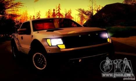 Ford F-150 SVT Raptor V1.0 pour GTA San Andreas vue de dessous