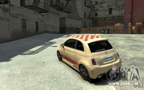 Fiat 500 Abarth Esseesse V1.0 pour GTA 4 Vue arrière de la gauche