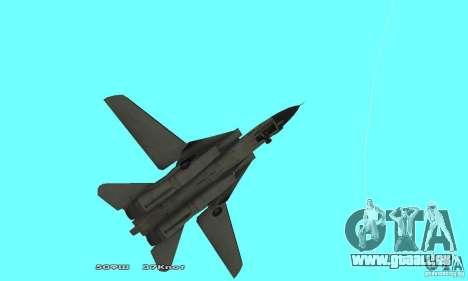 F14W Super Weirdest Tomcat Skin 2 pour GTA San Andreas vue intérieure