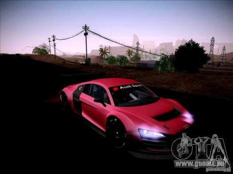 Audi R8 LMS v2.0 pour GTA San Andreas vue intérieure