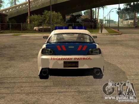 Mazda RX-8 Police pour GTA San Andreas sur la vue arrière gauche