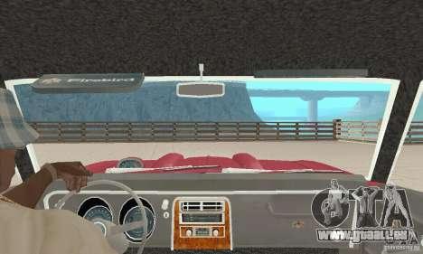 Pontiac Firebird 1968 für GTA San Andreas Innenansicht