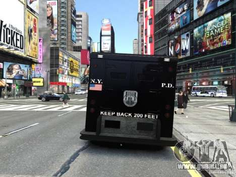 SWAT - NYPD Enforcer V1.1 pour GTA 4 Vue arrière de la gauche