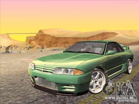 Nissan Skyline GT-R 32 1993 pour GTA San Andreas vue de dessus