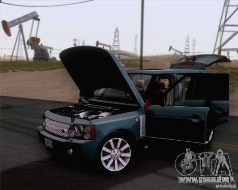 Land Rover Range Rover Supercharged 2008 für GTA San Andreas zurück linke Ansicht