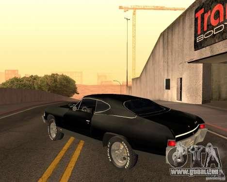 Chevrolet Chevelle 1968 für GTA San Andreas Innenansicht