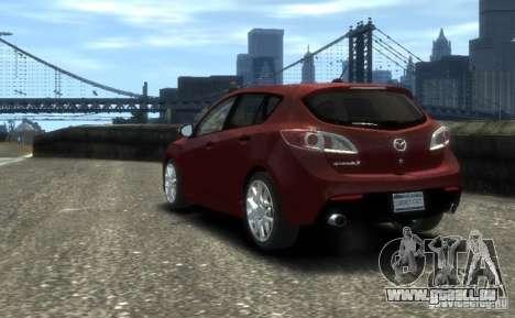 Mazda Speed 3 2010 pour GTA 4 est une gauche