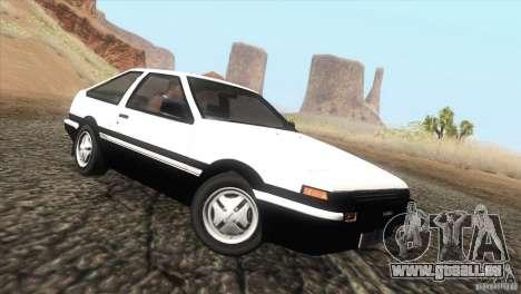 Toyota Sprinter Trueno AE86 GT-Apex pour GTA San Andreas laissé vue