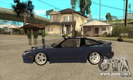 Nissan 180SX Turbo JDM pour GTA San Andreas laissé vue