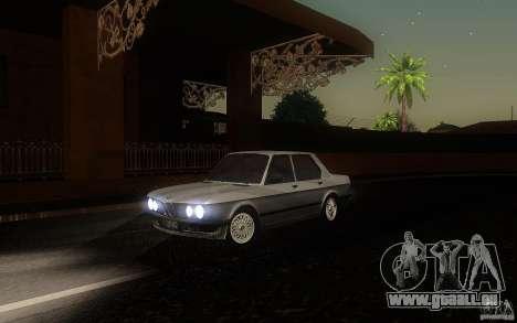BMW E28 525e ShadowLine Stock pour GTA San Andreas laissé vue