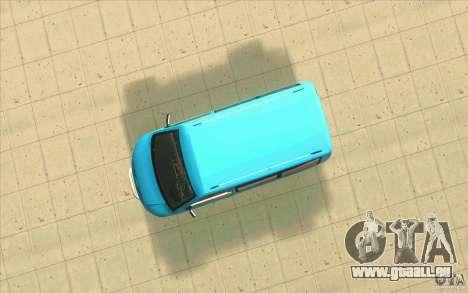 Volkswagen Caravelle pour GTA San Andreas vue arrière
