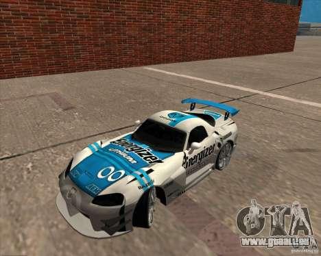 Dodge Viper Energizer pour GTA San Andreas sur la vue arrière gauche