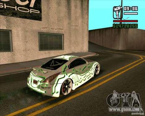 Nissan 350Z Pro Street pour GTA San Andreas laissé vue