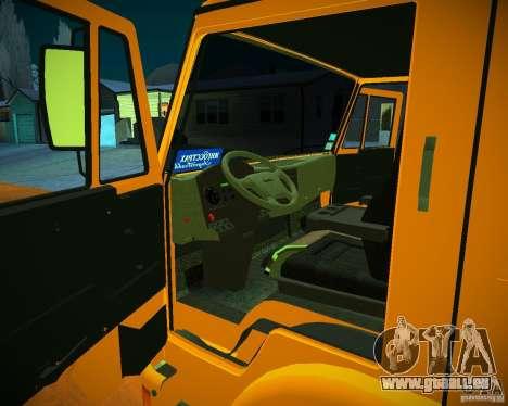 Betonmischer KAMAZ-6460 für GTA San Andreas Rückansicht