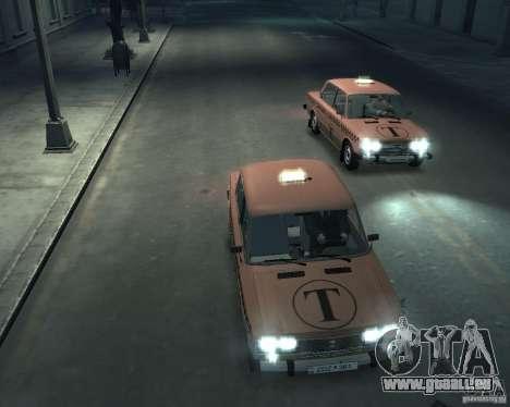 VAZ 2106 Taxi für GTA 4 obere Ansicht