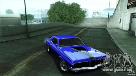 Mercury Cougar Eliminator 1970 pour GTA San Andreas vue arrière