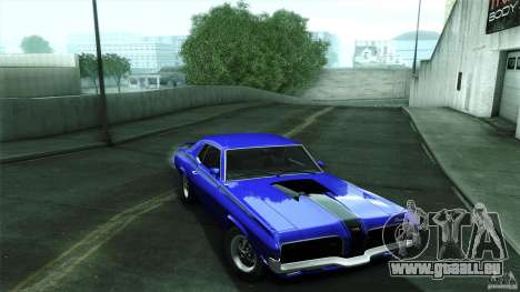 Mercury Cougar Eliminator 1970 für GTA San Andreas Rückansicht