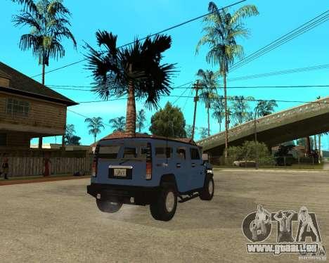AMG H2 HUMMER für GTA San Andreas zurück linke Ansicht