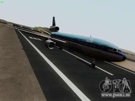 McDonell Douglas DC-10-30 KLM Royal Dutch für GTA San Andreas linke Ansicht
