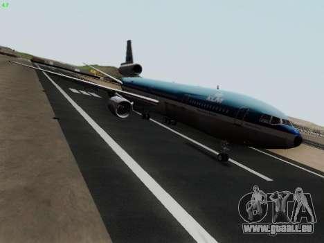 McDonell Douglas DC-10-30 KLM Royal Dutch pour GTA San Andreas laissé vue