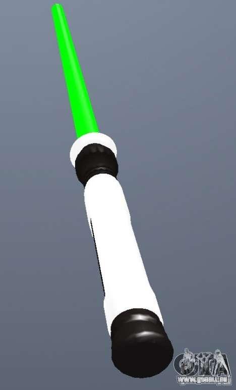 Lightsabre v2 Master(green) pour GTA San Andreas deuxième écran