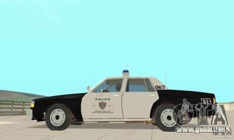Chevrolet Caprice Interceptor 1986 Police pour GTA San Andreas laissé vue