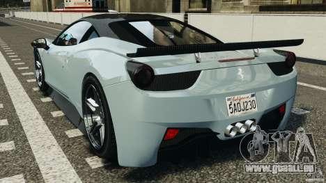 Ferrari 458 Italia 2010 [Key Edition] v1.0 pour GTA 4 Vue arrière de la gauche