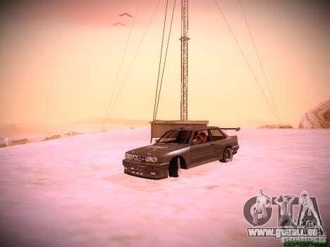 BMW M3 Drift für GTA San Andreas Innenansicht
