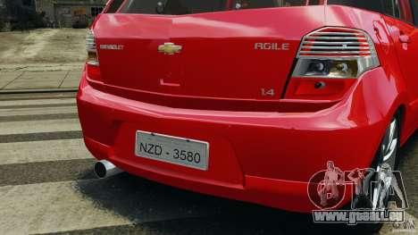 Chevrolet Agile für GTA 4 Räder