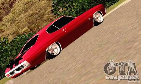 Chevrolet Chevelle 1970 pour GTA San Andreas vue de dessous