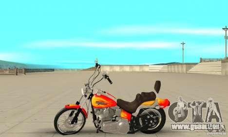 Harley Davidson softail Skin 2 pour GTA San Andreas laissé vue