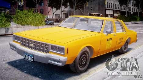 Chevrolet Impala Taxi 1983 pour GTA 4 est une vue de l'intérieur