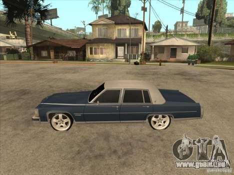 Cadillac Fleetwood Brougham 1985 pour GTA San Andreas laissé vue